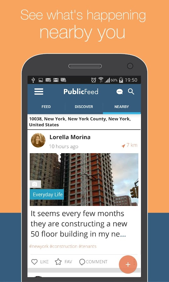 PublicFeed: Nearby Social News- screenshot