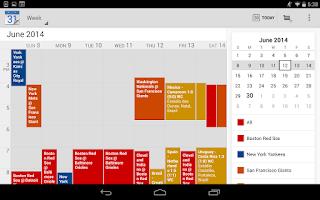 Screenshot of Baseball Calendars