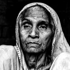 Detaling by Shibasish Saha - Black & White Portraits & People ( old age, face, women, portrait )