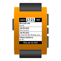 Screenshot of Notiwatch for Pebble
