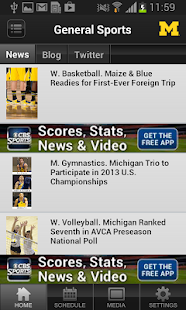 University of Michigan Sports - screenshot thumbnail