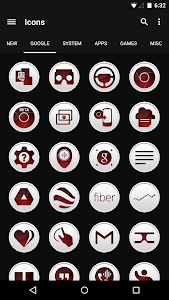 Clean Red - Icon Pack v2.2.3