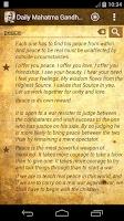 Screenshot of Daily Mahatma Gandhi Quotes