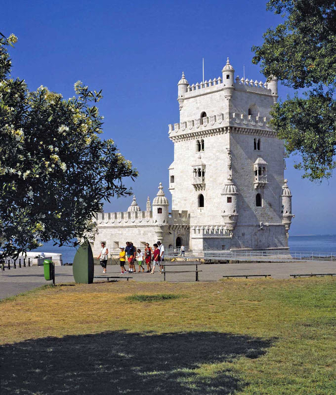 Torre de Belém on the banks of the river Tagus in Lisbon.