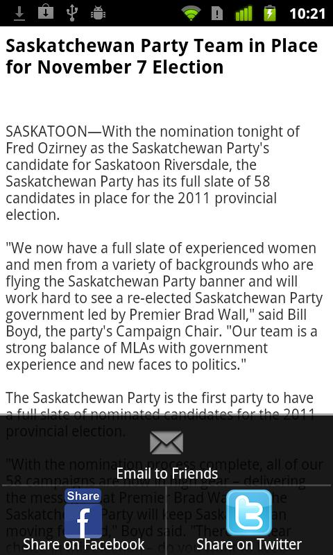 SaskParty- screenshot