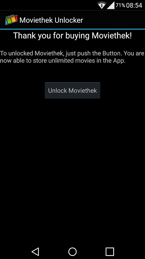 Moviethek Unlocker- screenshot