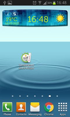 Temperature Clock Widget - screenshot