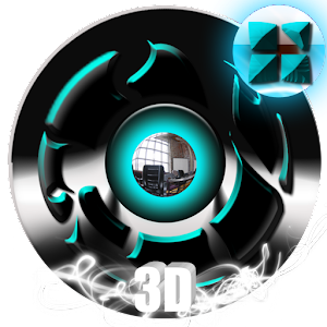 Next 3D theme Cyan Twister 個人化 App LOGO-APP試玩
