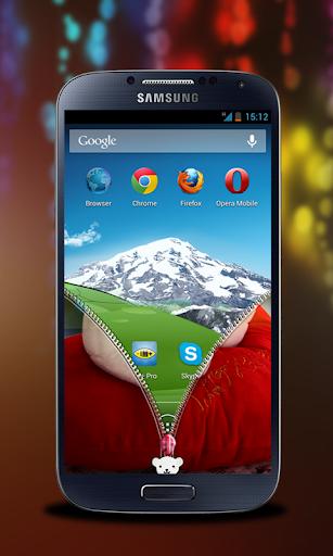 【免費個人化App】泰迪熊拉鍊鎖屏-APP點子
