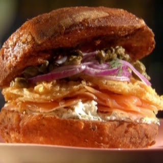 Deep-fried Bagel Sandwich