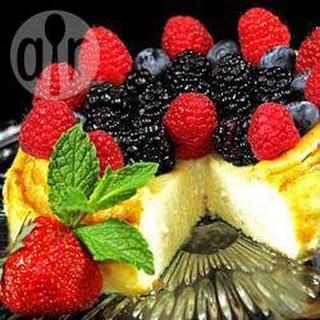 Romige New York cheesecake zonder bodem