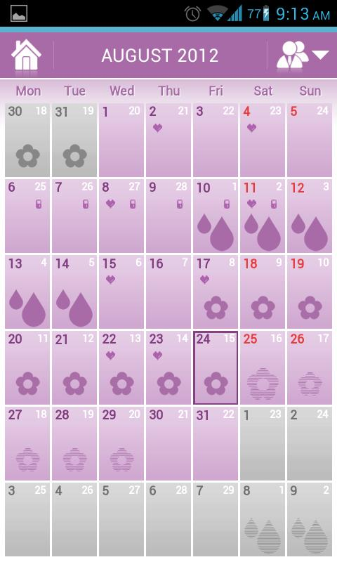 Menstrual Cycle - Woman Log- screenshot