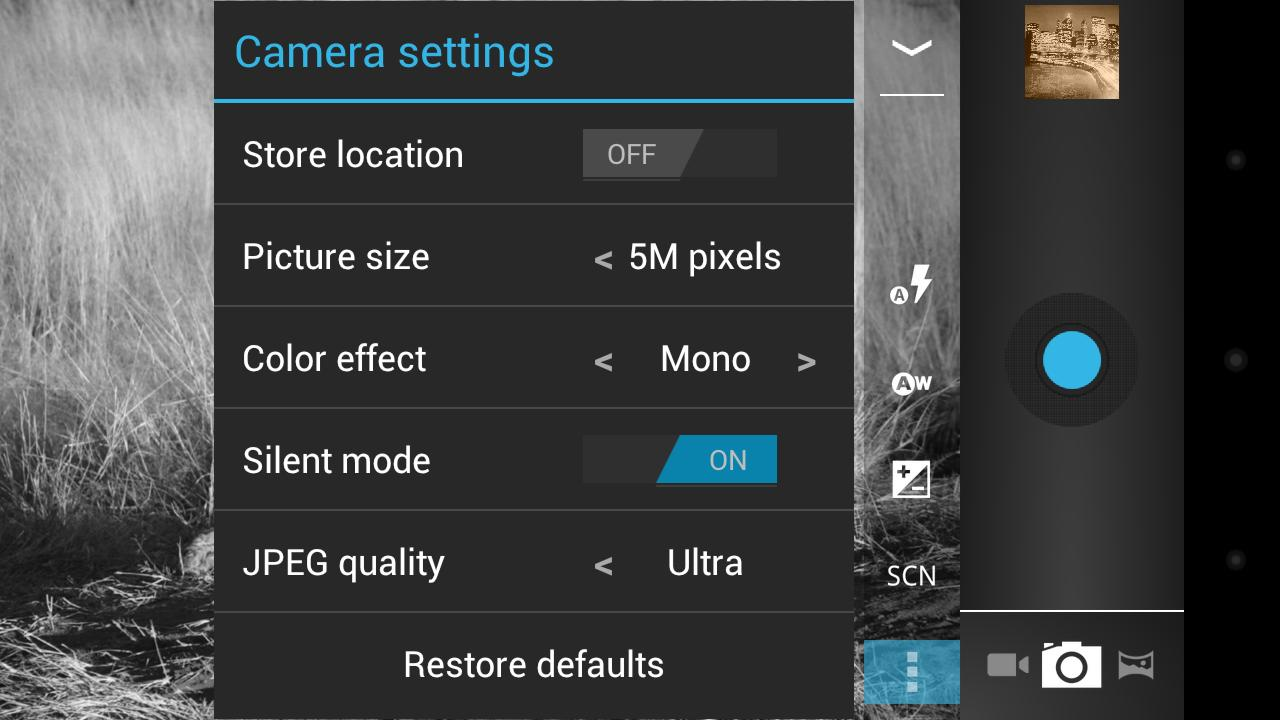 Camera ICS - screenshot