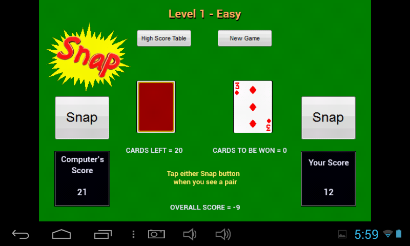 snap card game how to play