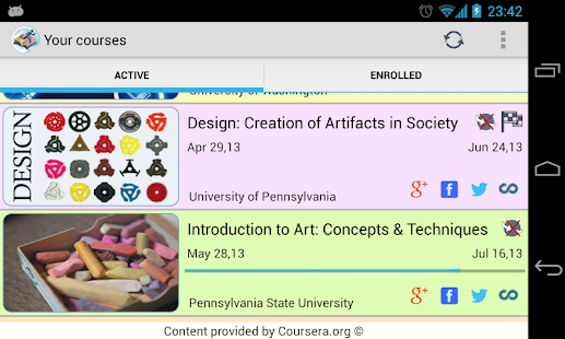 Coursera On The Go Free - screenshot thumbnail