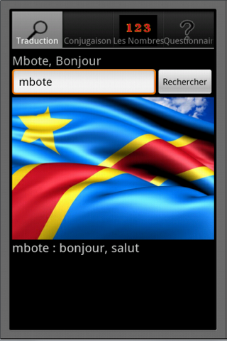 French Lingala dictionary - screenshot