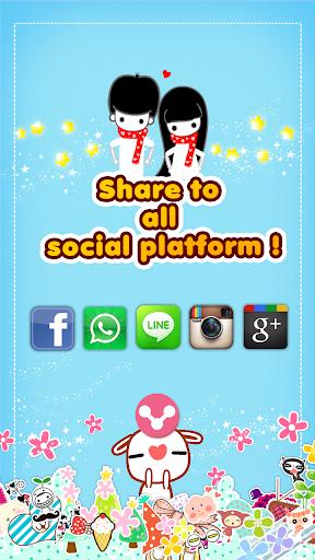 玩攝影App 私のスタンプ免費 APP試玩