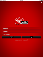Screenshot of Virgin Mobile My Account