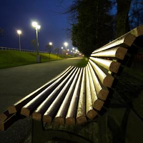 Good night  by Adrian Urbanek - City,  Street & Park  City Parks ( good night, park, alley )