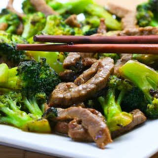 Stir-Fried Beef and Broccoli with Ginger and Ponzu Sauce.