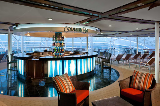 Royal-Caribbean-Solarium-Bar - Have a drink or chat up new friends at the Solarium Bar aboard Allure of the Seas.