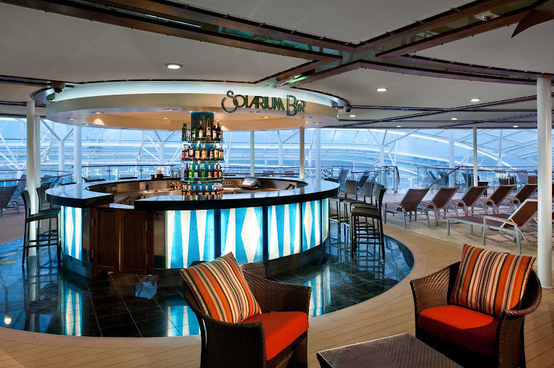 Have a drink or chat up new friends at the Solarium Bar aboard Allure of the Seas.