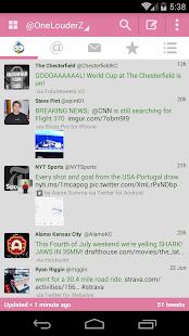 TweetCaster Pink for Twitter - screenshot thumbnail