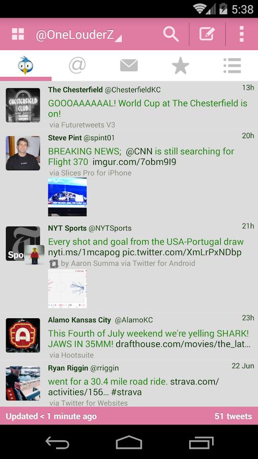 TweetCaster Pink for Twitter - screenshot