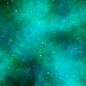 Cyan Nebula Live Wallpaper