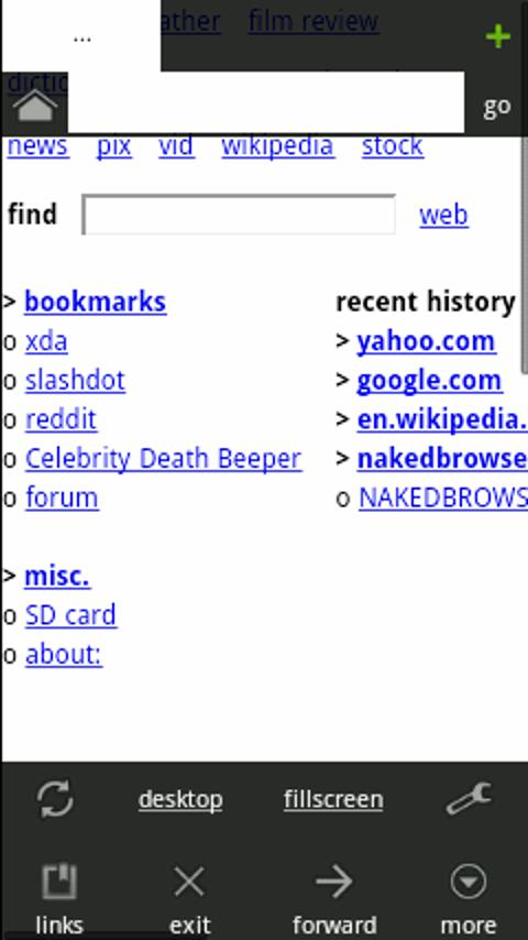 Naked Browser- screenshot