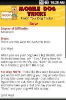Screenshot of Mobile Dog Tricks