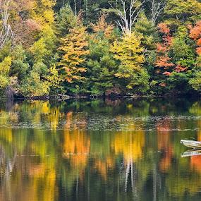 Autumn tranquility by Plamen Valkovski - Landscapes Waterscapes