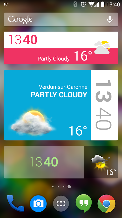 Beautiful Widgets Free- screenshot