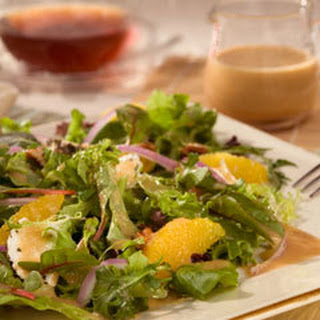 Spring Greens With Wild Berry Dressing.