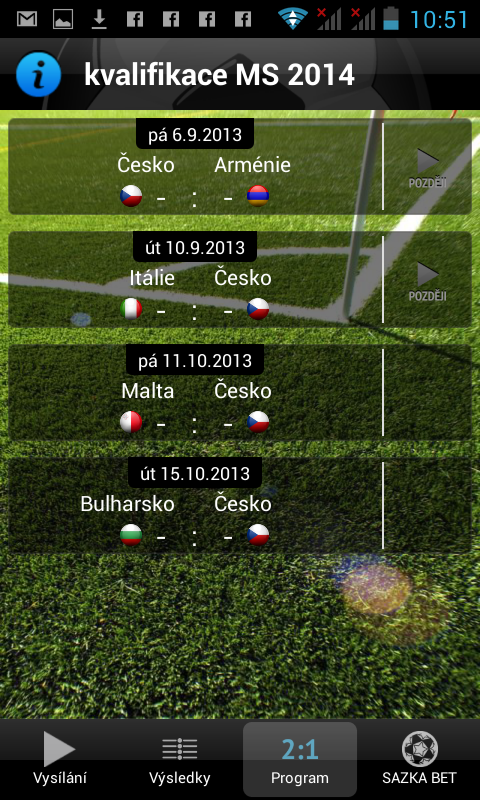 Fotbal CZ - screenshot