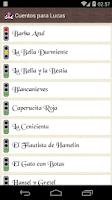Screenshot of Cuentos Infantiles para Lucas
