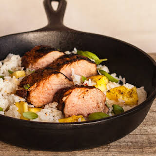 Everyday Pork Tenderloin with Coconut Rice.