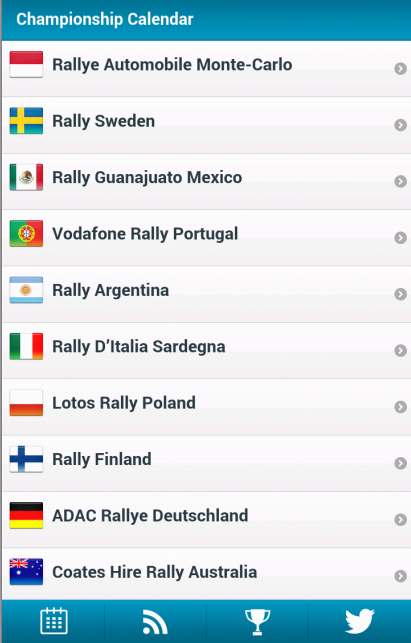 WRC - World Rally Calendar- screenshot
