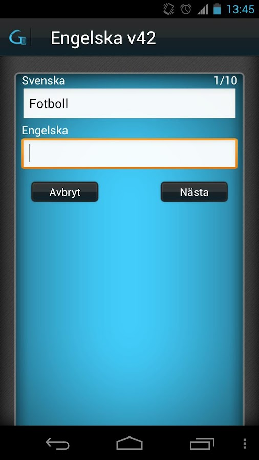 Glosa- screenshot