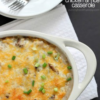 Skinny Chicken and Rice Casserole