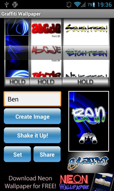 Graffiti Tag Wallpaper Maker - screenshot