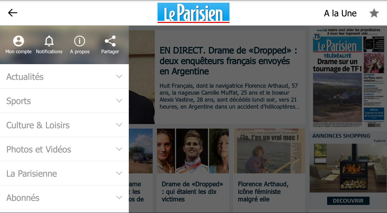 Le Parisien - Info France- screenshot