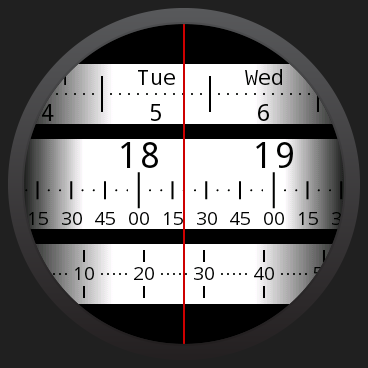 Meter Watch Face for Wear- screenshot