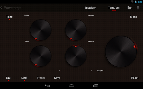 Poweramp skin Brown with Red v1.2.1