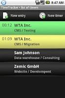 Screenshot of TimeTracker