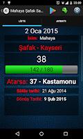 Screenshot of Mahaya Şafak Sayacı