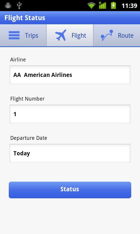 Flight Status- screenshot