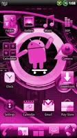 Screenshot of CYANOGEN PINK GO Theme