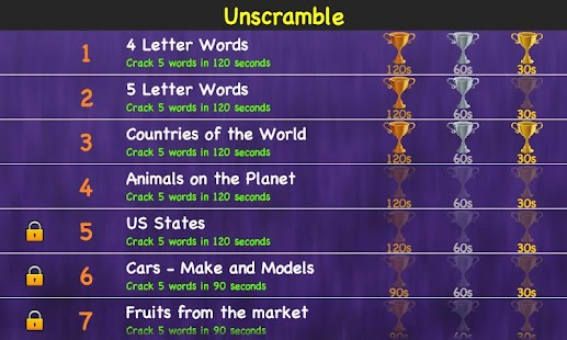unscramble jumbled words games screenshot thumbnail