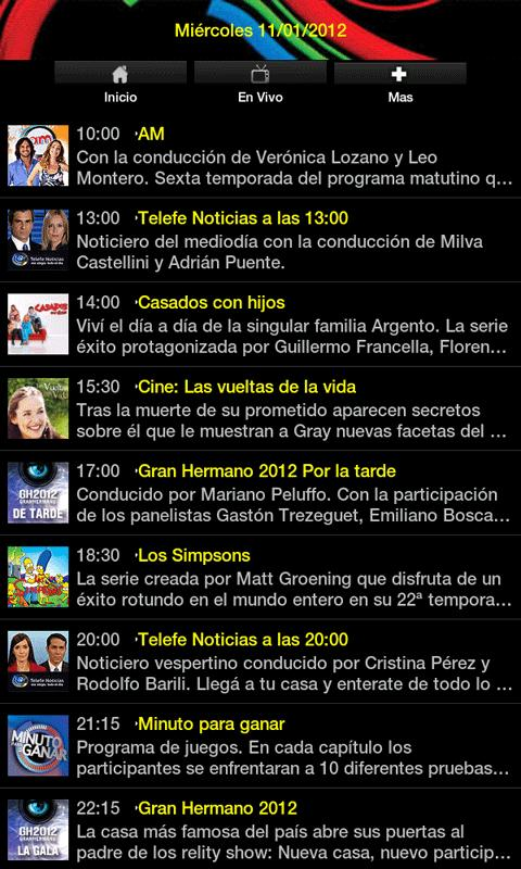 Telefe - screenshot
